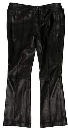 Diesel Black Gold Mid-Rise Leather Pants