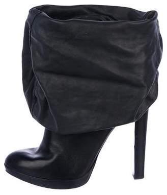 Alaia Leather Foldover Boots