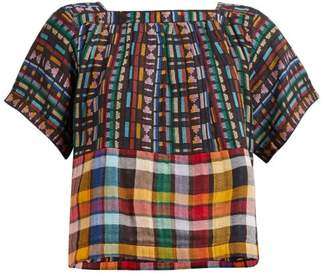 Ace&Jig Vista Checked Cotton Top - Womens - Black Multi