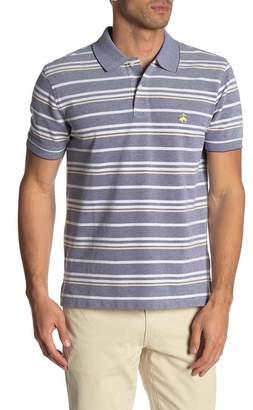 Brooks Brothers Colorblock Stripe Short Sleeve Polo