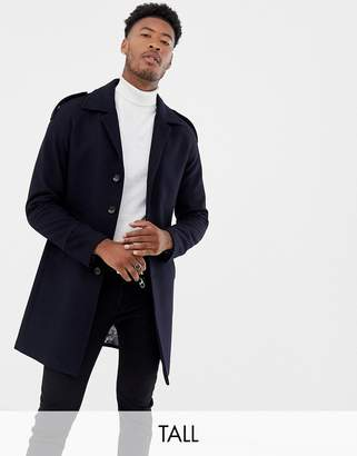 Gianni Feraud Tall premium wool blend raglan trench