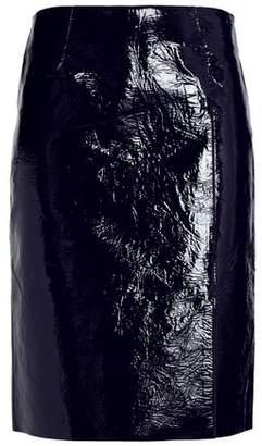 Diane von Furstenberg Crinkled Patent-Leather Skirt