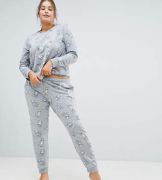 Asos DESIGN Curve Lounge Frenchie Jogger