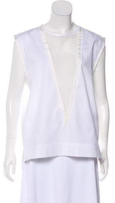 Isabel Marant Sleeveless Mesh-Accented Top w/ Tags