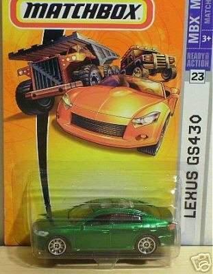 Mattel Matchbox 2007 MBX Metal 1:64 Scale Die Cast Car # 23 - Matchbox 55th Anniversary Metallic Green Luxury Sedan Lexus GS430
