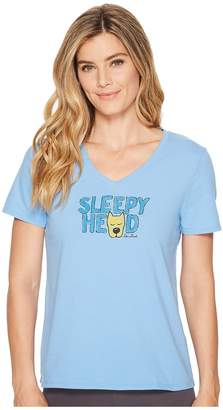 Life is Good Sleepy Head Sleep Vee Women's Pajama