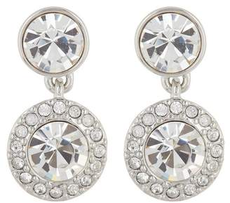 Givenchy Pave Crystal Double Round Drop Earrings