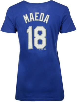 Majestic Women Kenta Maeda Los Angeles Dodgers Crew Player T-Shirt