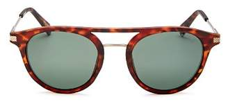 Polaroid Men's Polarized Brow Bar Round Sunglasses, 50mm