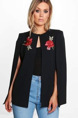 boohoo Plus Embroidered Cape Jacket