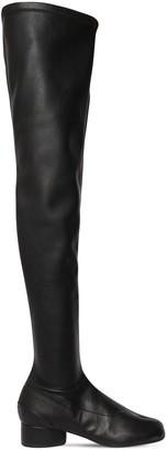 Maison Margiela 30mm Tabi Faux Leather Boots