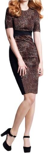 Michael Kors Womens Ponte Animal Print Wear to Work Dress