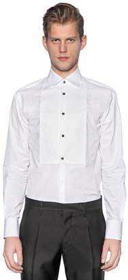 DSQUARED2 Plastron Tuxedo Cotton Poplin Shirt