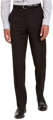 Sean John Men Classic-Fit Stretch Black Pinstripe Suit Separate Pants