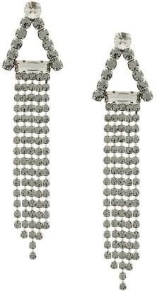 Alberta Ferretti embellished dangly earrings