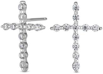 At Debenhams Simply Silver Sterling Cross Earrings
