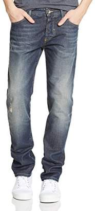 Benetton Men's Destressed Denim Regular Jeans,(Manufacturer Size:28)
