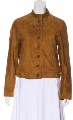 J Brand Suede Button-Up Jacket