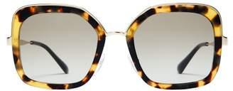 Prada Square Frame Tortoiseshell Sunglasses - Womens - Tortoiseshell