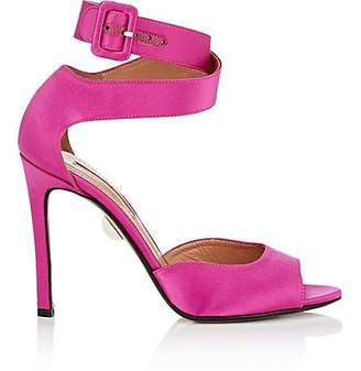 Samuele Failli Women's Jerry Satin Ankle-Wrap Sandals - Md. Pink Size 6