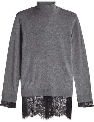 Steffen Schraut Turtleneck Pullover with Lace