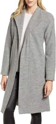 Fleurette Teddy Wool Wrap Coat