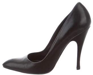 Balenciaga Leather Pointed-Toe Pumps