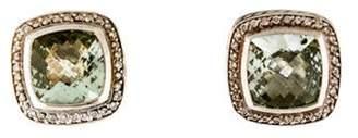 David Yurman Prasiolite & Diamond Albion Earclips silver Prasiolite & Diamond Albion Earclips
