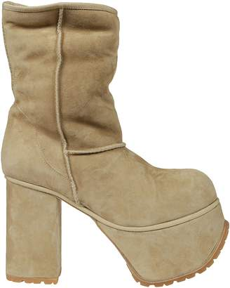 R 13 Mid Block Heel Boots