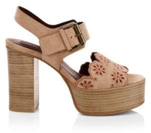 See by Chloe Krysty Laser-Cut Leather Platform Sandals