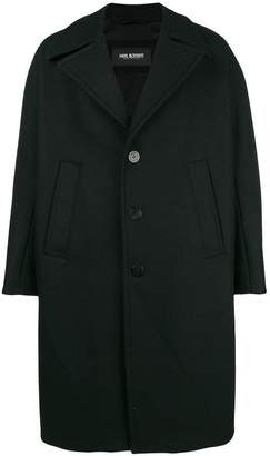 Neil Barrett oversized double breasted coat