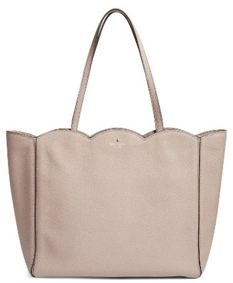 Kate Spade New York Leewood Place - Rainn Leather Tote - Beige $328 thestylecure.com