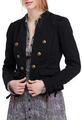 Free People Jagger Open Front Cotton Blazer