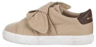 Burberry Girls' Canvas Slip-On Sneakers