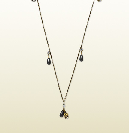 Gucci Necklace With Crystal And Glass Drops