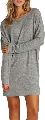 Billabong Reset Button Long Sleeve Sweater Dress