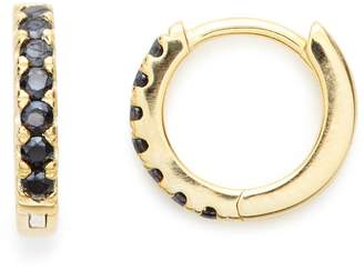 Stella and Bow Venus Hoops - Black Spinel