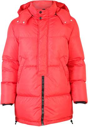 MSGM Red Branded Padded Jacket