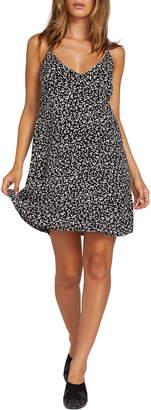 Volcom Now or Now Cherry Print Tank Minidress