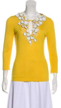 Oscar de la Renta Embellished Button-Up Cardigan