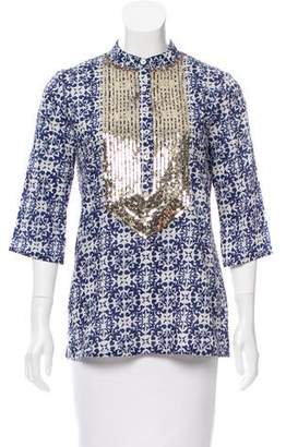 Figue Jasmine Sequin-Embellished Tunic w/ Tags