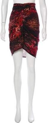 Helmut Lang Batik Print Skirt