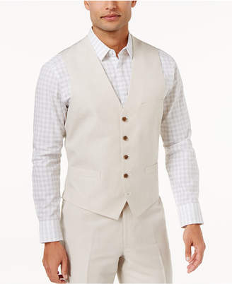 INC International Concepts I.n.c. Men Linen Blend Vest