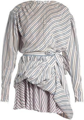Balenciaga Uplifted striped and star-jacquard mini dress