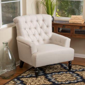 Alcott Hill Verona Tufted Fabric Armchair