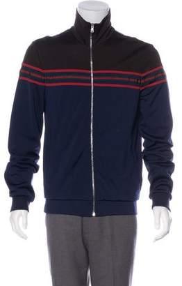 Gucci Striped Mock Neck Jacket