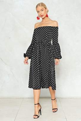 Nasty Gal Swing in Our Direction Polka Dot Dress