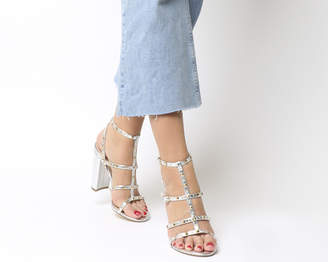 Office Huddle Studed Block Heel Sandals