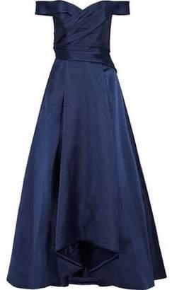 J. Mendel J.mendel Off-The-Shoulder Pleated Silk-Blend Satin-Faille Gown