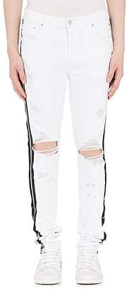 Amiri Men's Track Distressed Slim Jeans